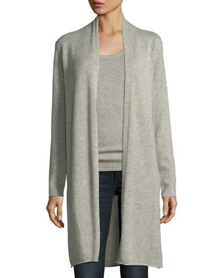 Neiman Marcus Cashmere Collection Metallic Cashmere Duster Cardigan
