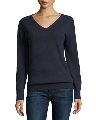 Navy Cashmere Sweater | Neiman Marcus