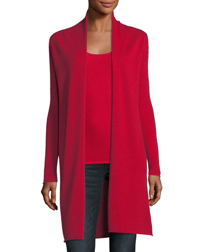 Classic Cashmere Duster Cardigan, Plus Size