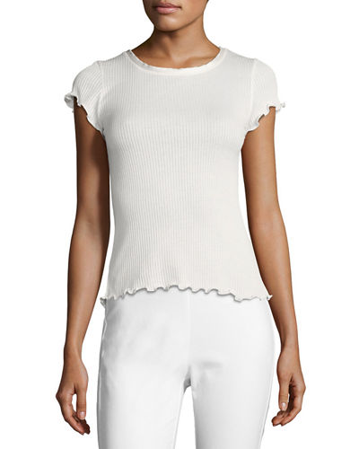 Dillion Ribbed Scalloped Tee