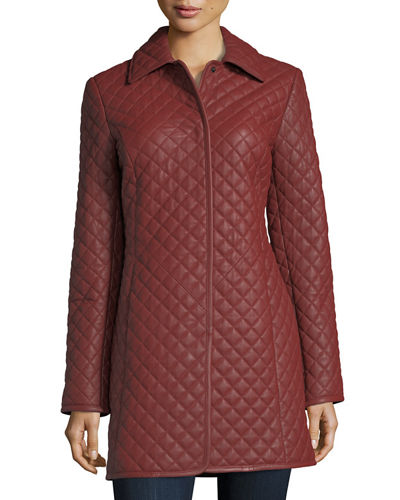 Neiman Marcus Leather Collection Quilted Leather Trenchcoat : neiman marcus quilted leather jacket - Adamdwight.com