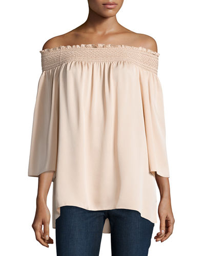 Elistaire Off-the-Shoulder Modern Georgette Top