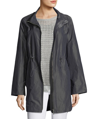 Nikolina Empirical Iridescent Tech Cloth Utility Jacket