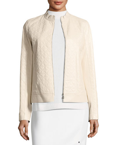 Lafayette 148 New York Becks Quilted Leather Moto