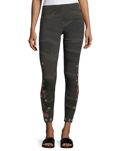 Emilia Embroidered Leggings, Plus Size