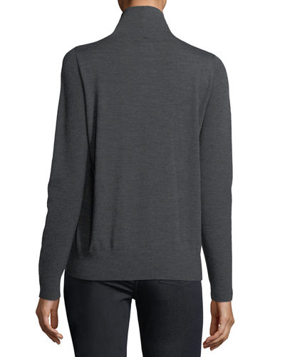 Modern Wool Turtleneck Top