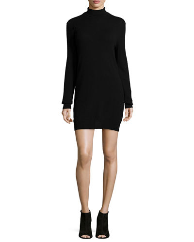 Oscar Long-Sleeve Cashmere Turtleneck Dress