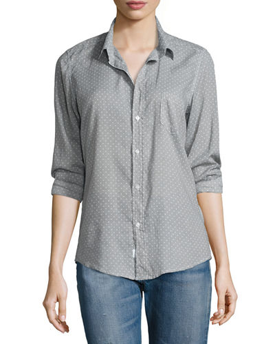 Frank & Eileen Barry Long-Sleeve Polka-Dot Shirt