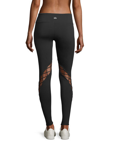 Entwine Lace-Up Full-Length Leggings