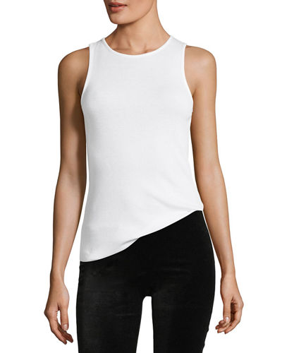 High-Neck Sleeveless Tank Top