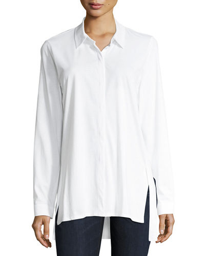Organic Cotton Jersey Collared Shirt