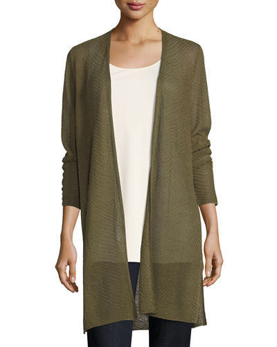 Long Sheer Cardigan | Neiman Marcus