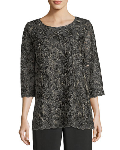 Lux Embroidered Tunic, Plus Size