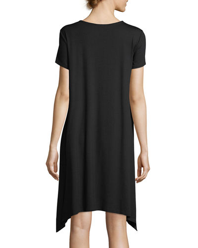 Short-Sleeve Jersey Dress, Plus Size