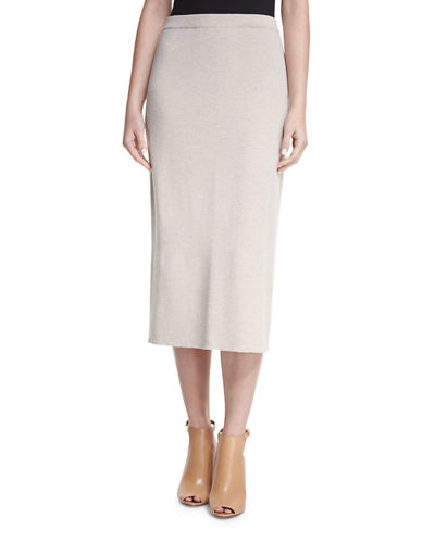 Washable Wool Crepe Pencil Skirt, Plus Size