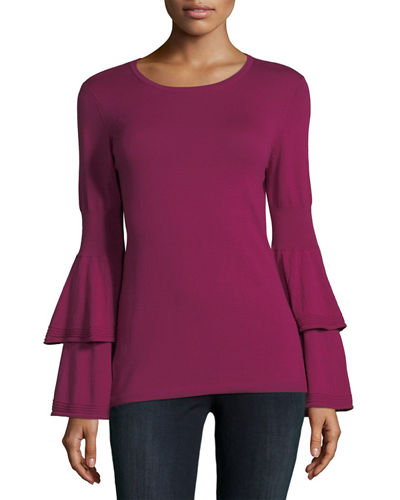 Alicia Bell-Sleeve Extrafine Merino Sweater