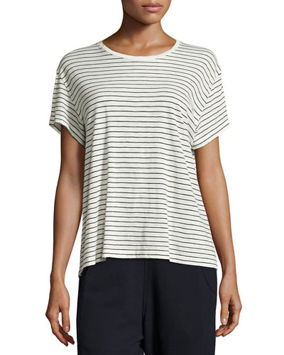 Striped Relaxed-Fit Pima Tee