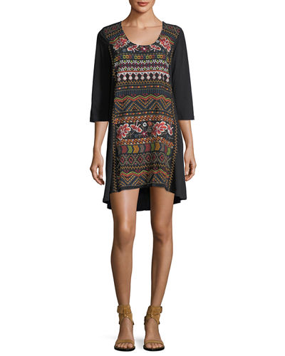 Waleska Embroidered Tunic, Plus Size