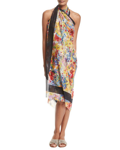 Iconic Prints Flora Cotton Sarong