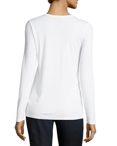 Long-Sleeve Micro-Tencel® Stretch-Knit Top