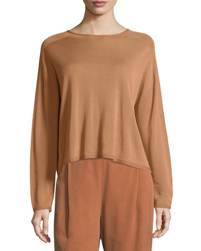 Seamless Sleek Funnel-Neck Top