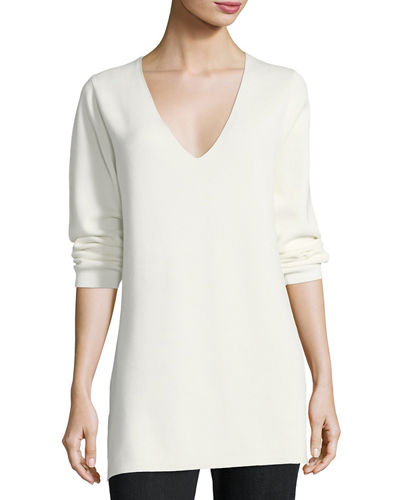 Long-Sleeve Cotton Milano Tunic, Plus Size