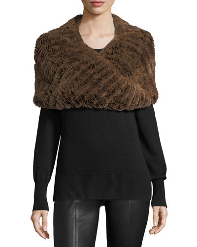 Luxury Rabbit Fur Snood