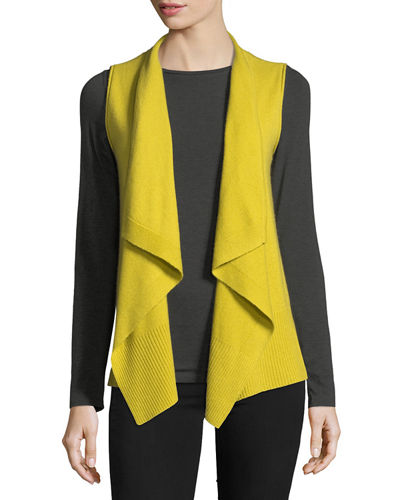 Exposed-Seam Cashmere Vest