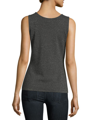 Lurex® Cashmere Scoop-Neck Tank