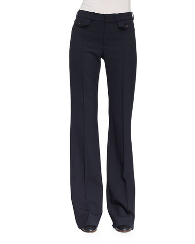 Chloe Wool Boot-Cut Pants