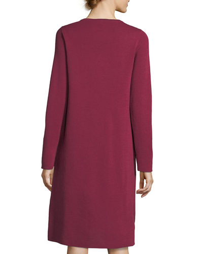 Fine Merino Interlock Knee-Length Dress