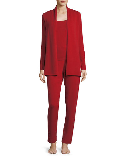 Neiman Marcus Cashmere Collection Cashmere Cardigan, Tank &