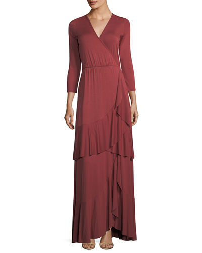 Sevilla Ruffled Long Dress, Plus Size