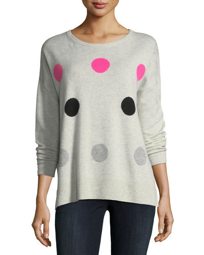 Hot Spots Cashmere Sweater, Plus Size