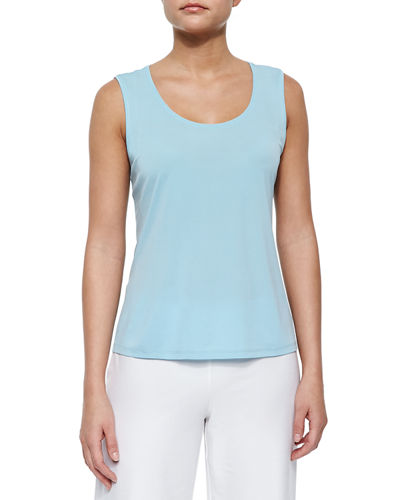 Stretch Silk Jersey Tank, Plus Size