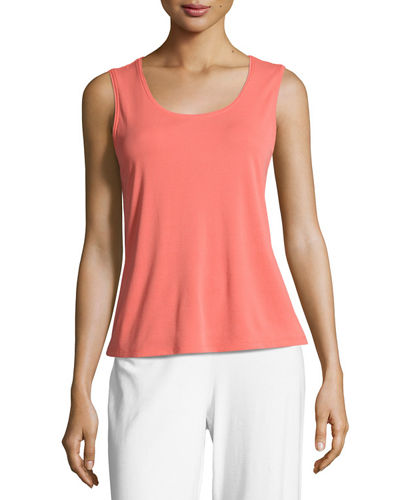 Silk Jersey Tank Top, Plus Size