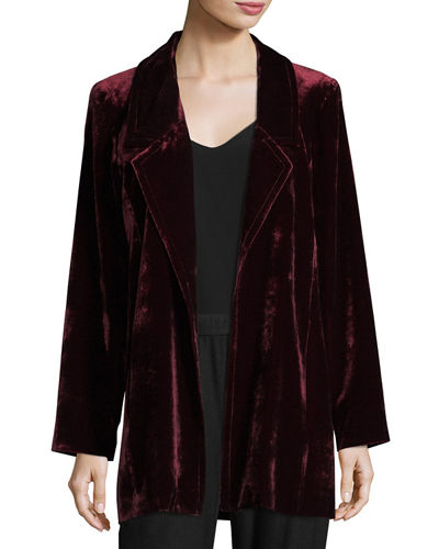 Velvet Long Blazer, Plus Size