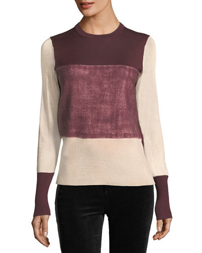 Marissa Crewneck Colorblock Sweater