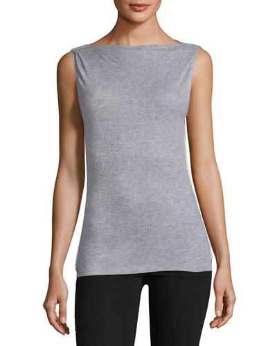 Madison Sleeveless Ribbed Top