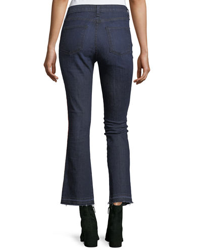 Carolyn Baby Boot Cropped Jeans w/ Tux Stripes
