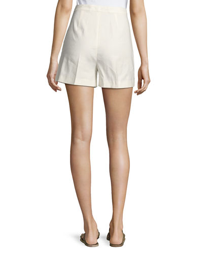 Tarrytown Stretch-Linen High-Waist Shorts