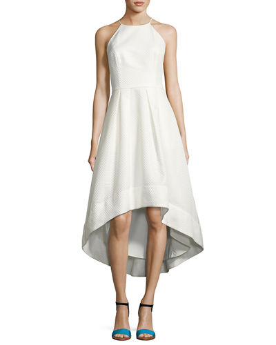 Aidan by Aidan Mattox Sleeveless Jacquard High-Low Cocktail