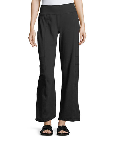 Empire Paneled Straight-Leg Pants, Plus Size