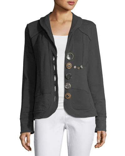 Multi-Button Jacket, Plus Size