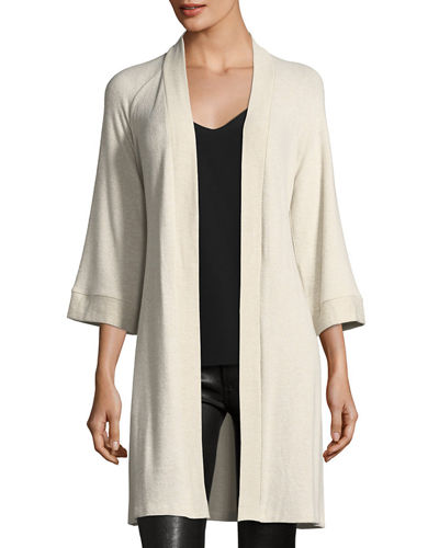 Jolie Brushed-Knit Cardigan