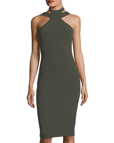 Body-Con Cutout Halter Dress