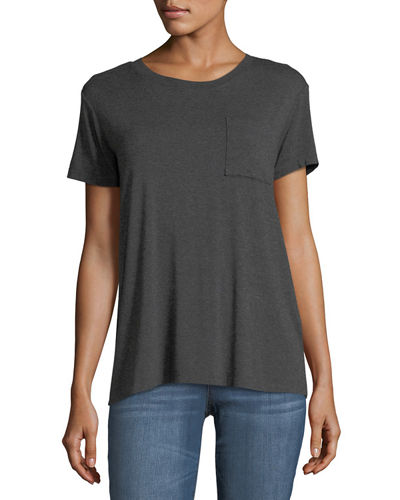 Patch-Pocket Jersey Tee