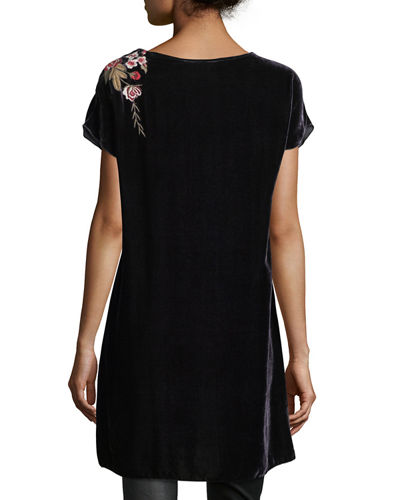 Meri Velvet Embroidered Tunic