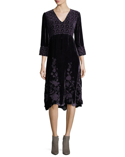 Parina Long Velvet Dress