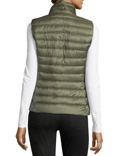 Julie-D Lightweight Quilted Down Vest
